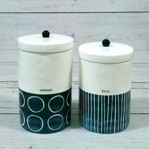 Rae Dunn Canisters Hold Contain